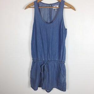 Old Navy Blue Denim Sleeveless Shorts Romper